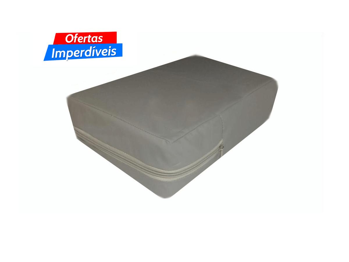capa hospitalar antialérgica impermeável para colchão de  casal na cor cinza  - CarroCasa