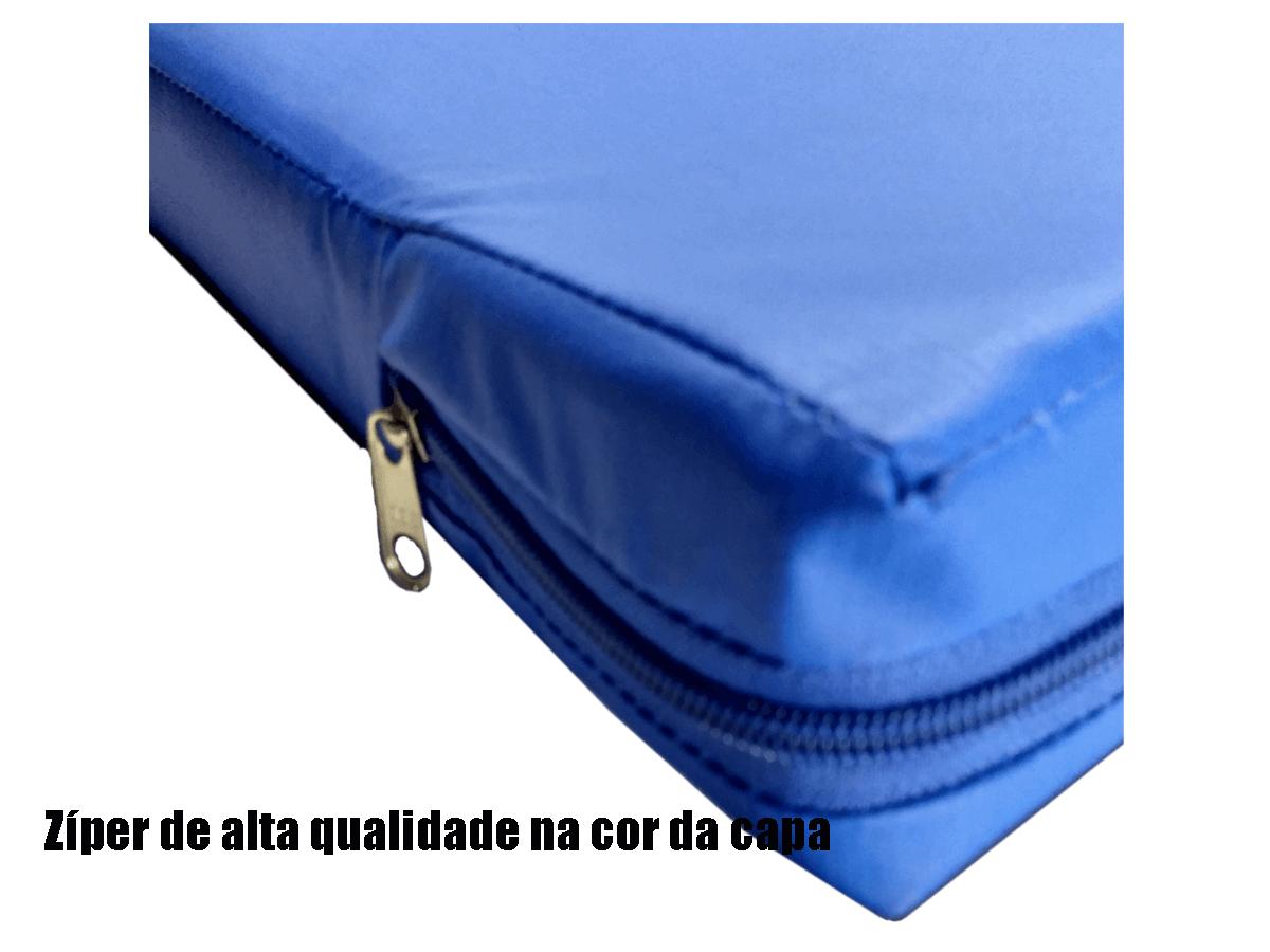Capa hospitalar para colchão de solteiro impermeável cor azul com zíper   - CarroCasa