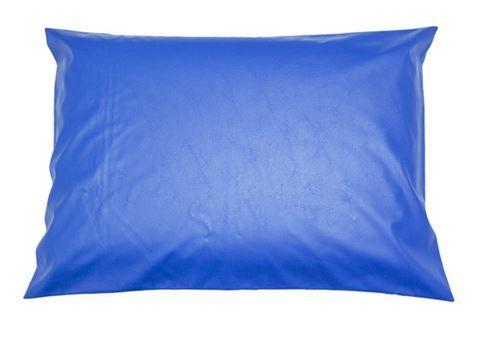 Capa hospitalar para travesseiro 50 x 70 cm com zíper azul