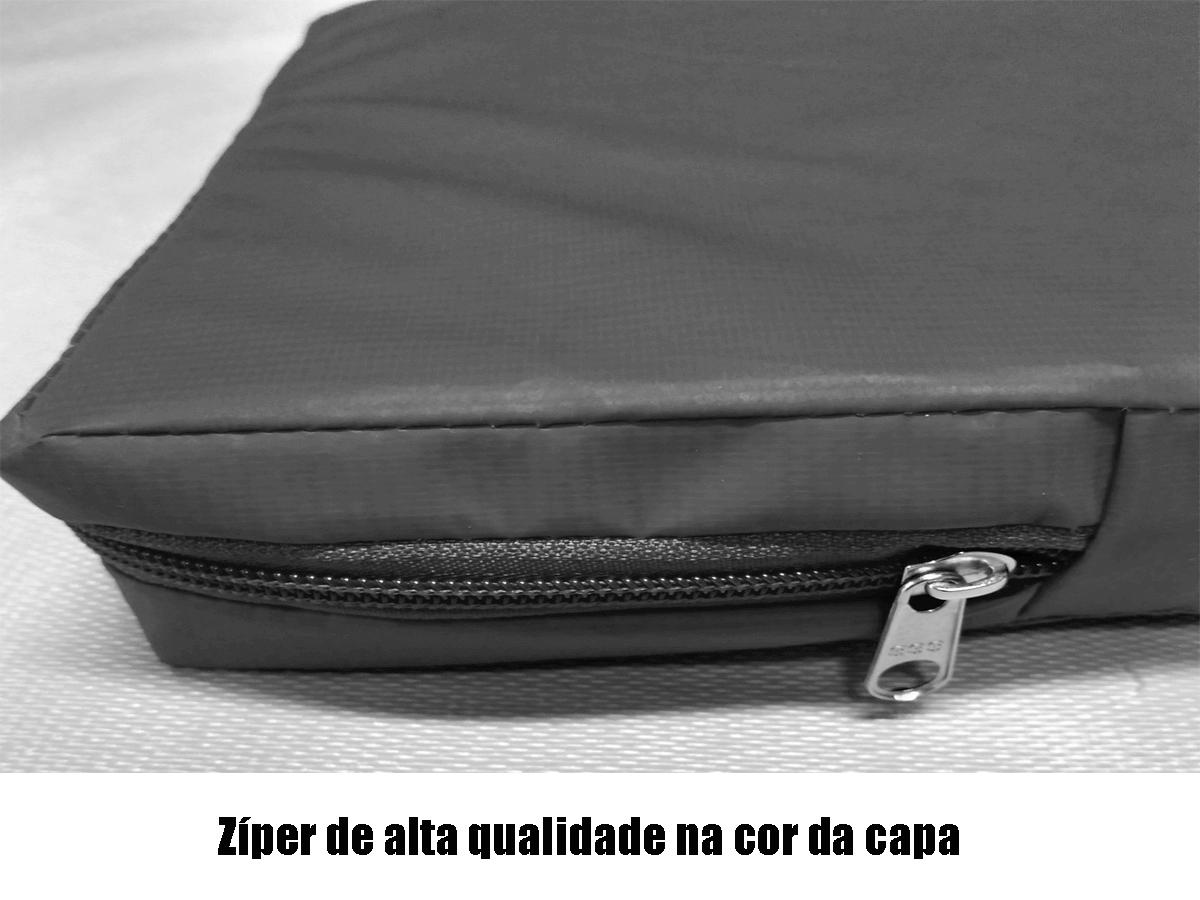 Capa Impermeável Colchão King Especial Com Ziper Forrada anti alérgica - Preta  - CarroCasa