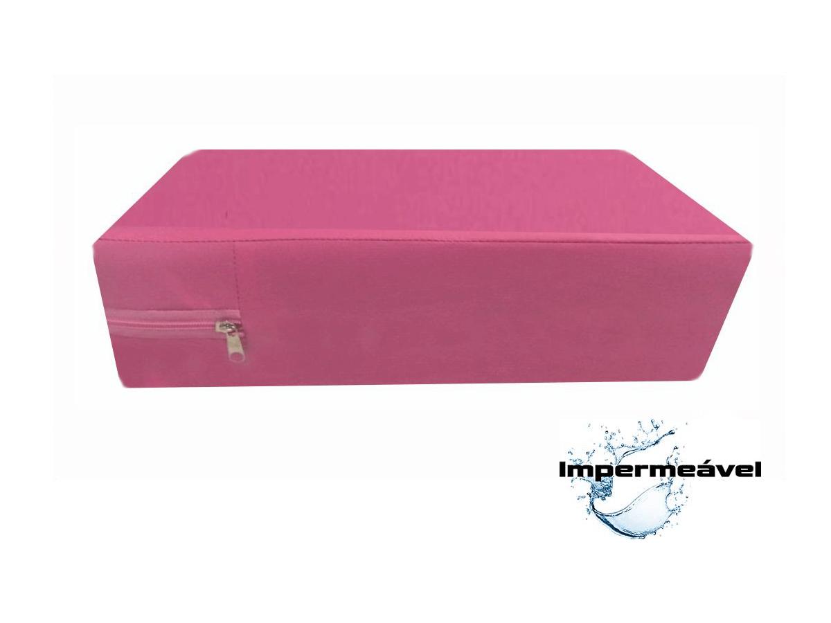 Capa Impermeável Colchão King Especial Com Ziper Forrada anti alérgica - Rosa Pink