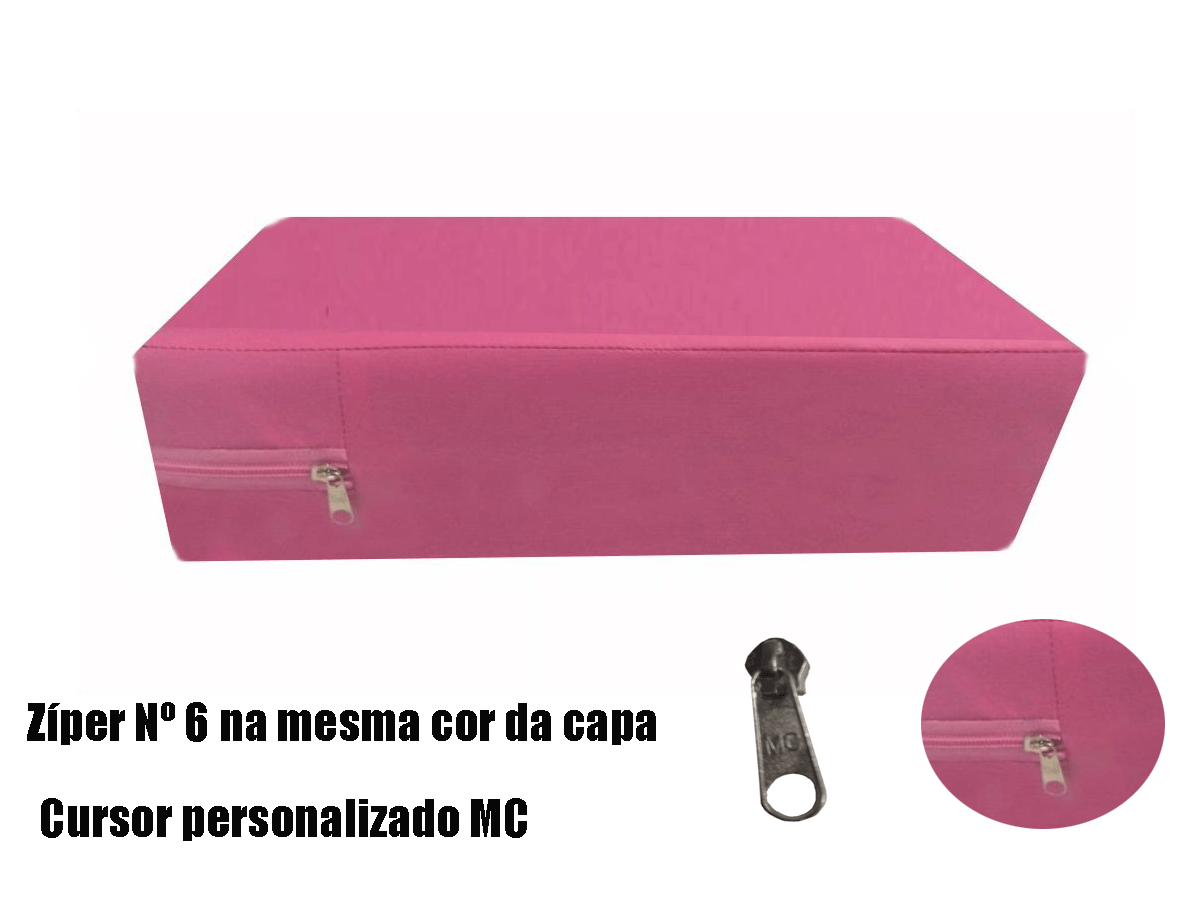 Capa Impermeável Colchão King Especial Com Ziper Forrada anti alérgica - Rosa Pink  - CarroCasa