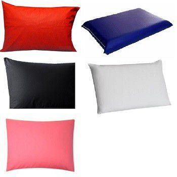 Capa Impermeável Para Travesseiro Hospitalar medindo 50 x 70 cm coloridas com zíper