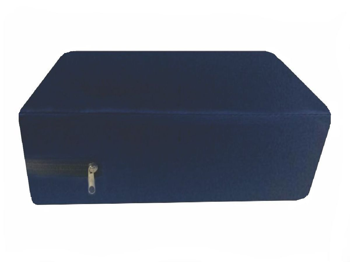 Capa King Impermeável Hospitalar para Colchão Azul Marinho