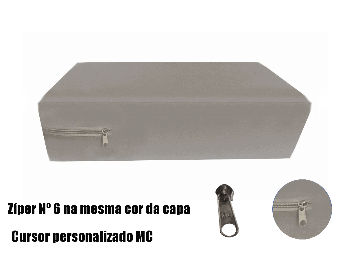 Capa King Impermeável Hospitalar para Colchão Cinza