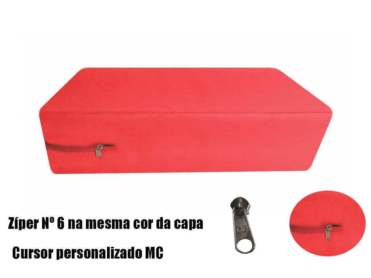 Capa King Impermeável Hospitalar para Colchão Vermelha  - CarroCasa