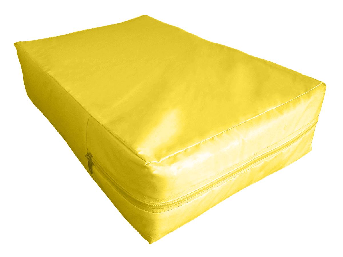 Capa Para Colchão Berço Mini Cama Impermeável Amarela  - CarroCasa