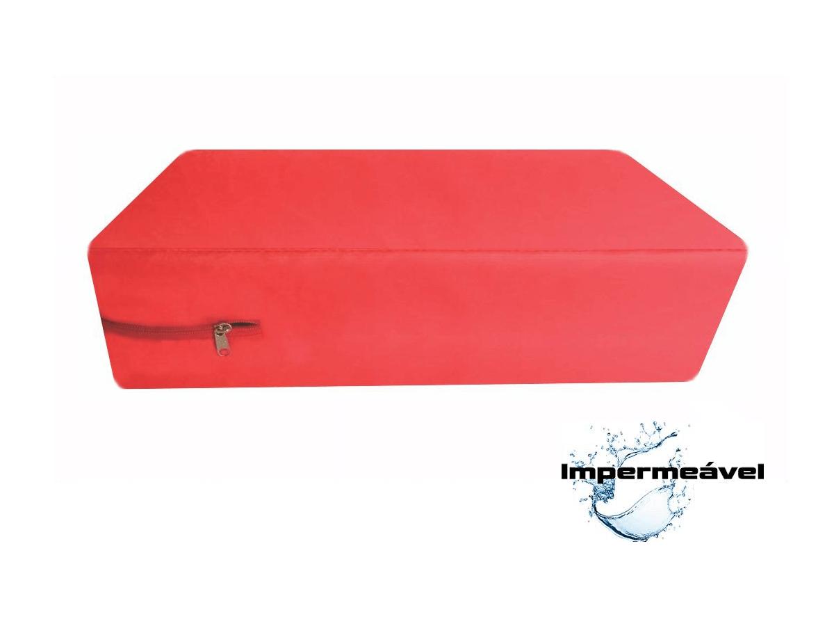 Capa Para Colchão Berço Mini Cama Impermeável Vermelha  - CarroCasa