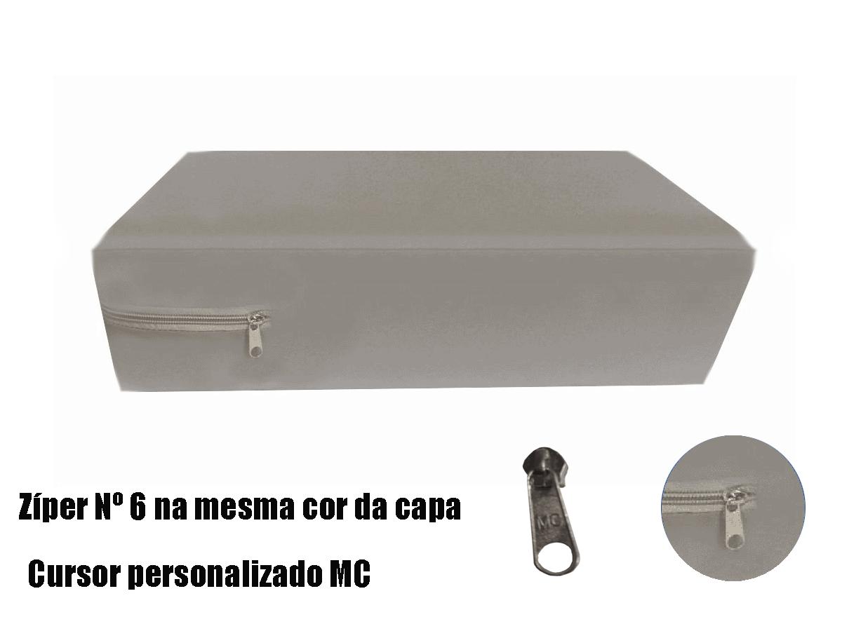 Capa para colchão de Casal Impermeável hospitalar Medida Especial Anti alérgica - Cinza