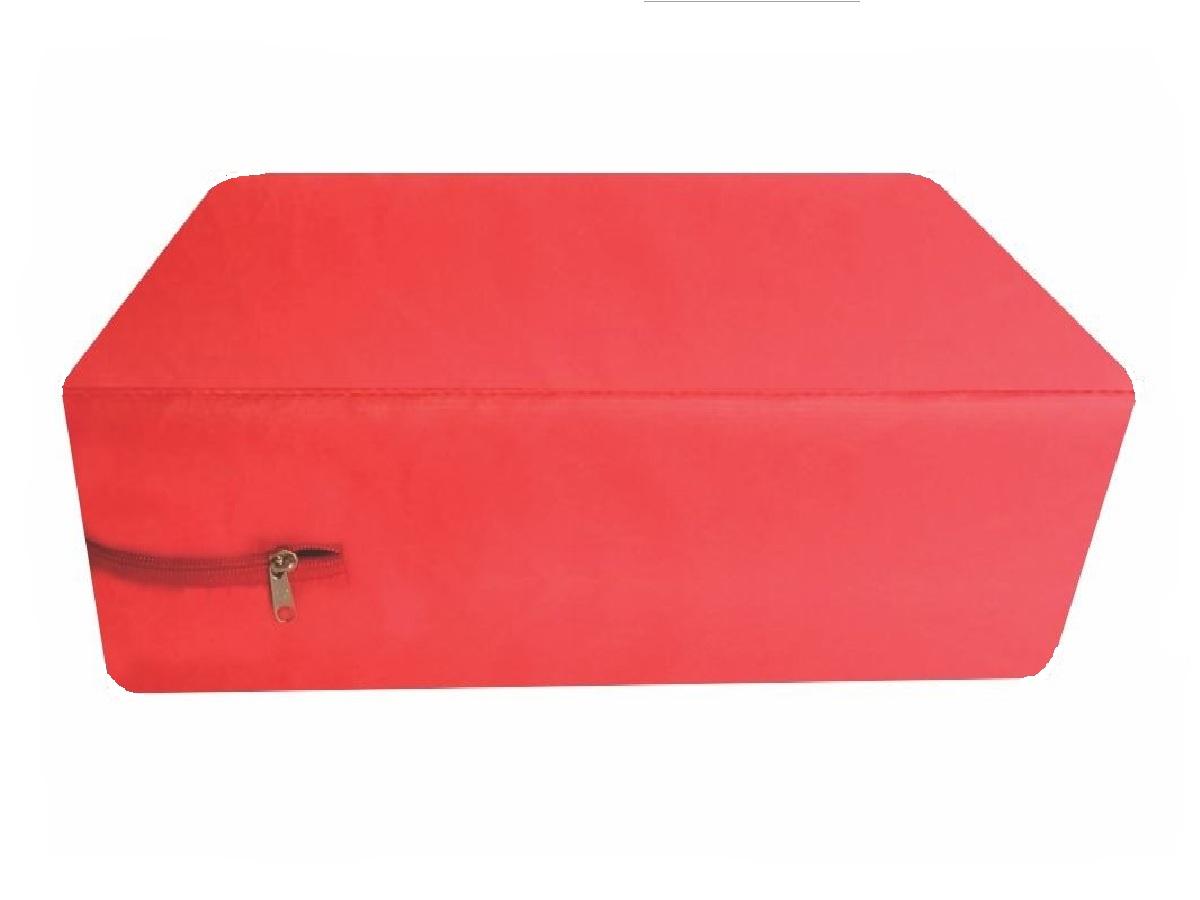 Capa para colchão de Casal Impermeável hospitalar Medida Especial Anti alérgica - Vermelha  - CarroCasa
