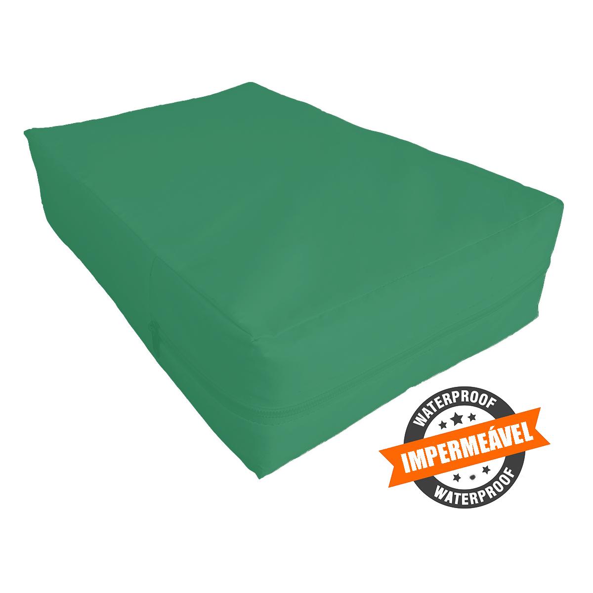 Capa para colchão de Casal Verde Bandeira Impermeável Hospitalar