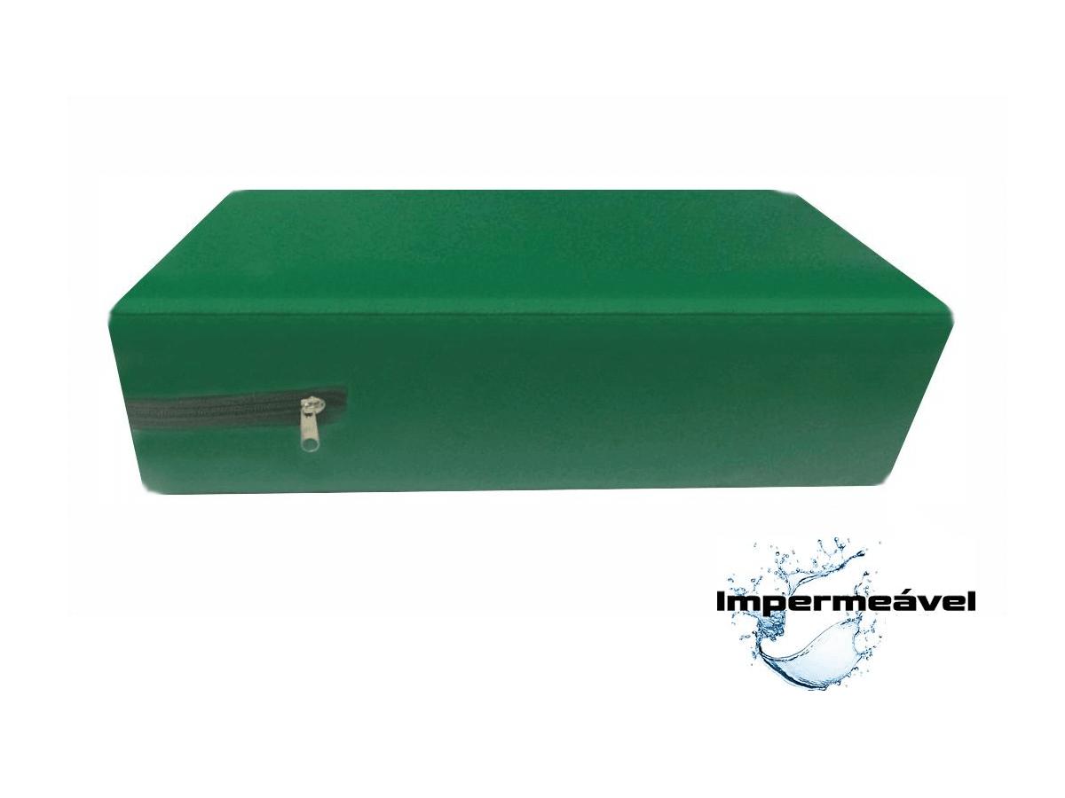 Capa para colchão de Casal Verde Bandeira Impermeável Hospitalar  - CarroCasa