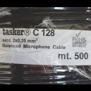 Cabo De Microfone Balanceado 2x0,35Mm / 500 MT - C128 - Preto - Tasker