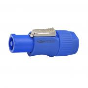 Kit Conector Powercon Azul De Linha Com 10 Unidades - K10-PWCAL - Arko Audio