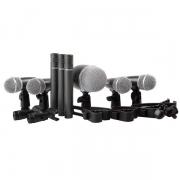 Kit De Microfone Para Bateria Com 8 Unidades E Maleta Para Transporte - Dmh8Xl - Proel