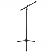 Pedestal Para Microfone Girafa Alto Com Haste Telescópica Base Retrátil E Articulações Em Aço - PSTM180 - Arko Audio