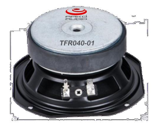 Alto-Falante 4 Polegadas Ferrite - Full-Range 110 ÷ 18 kHz - 40W Aes/90 dB - Tfr040-01 - Arko Audio