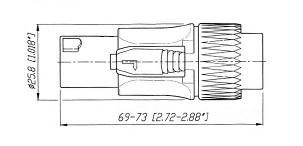 Conector Speakon 4 Polos Reto De Linha - Spk4Rl - Arko Audio
