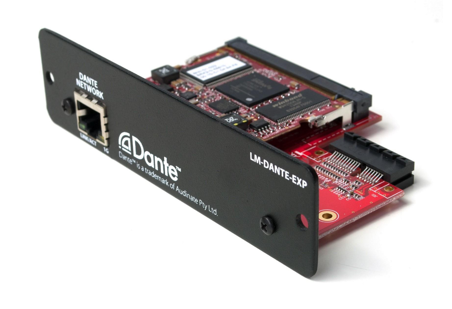 Interface Placa Com Conexão Dante - Lm-Dante-Exp - Livemix