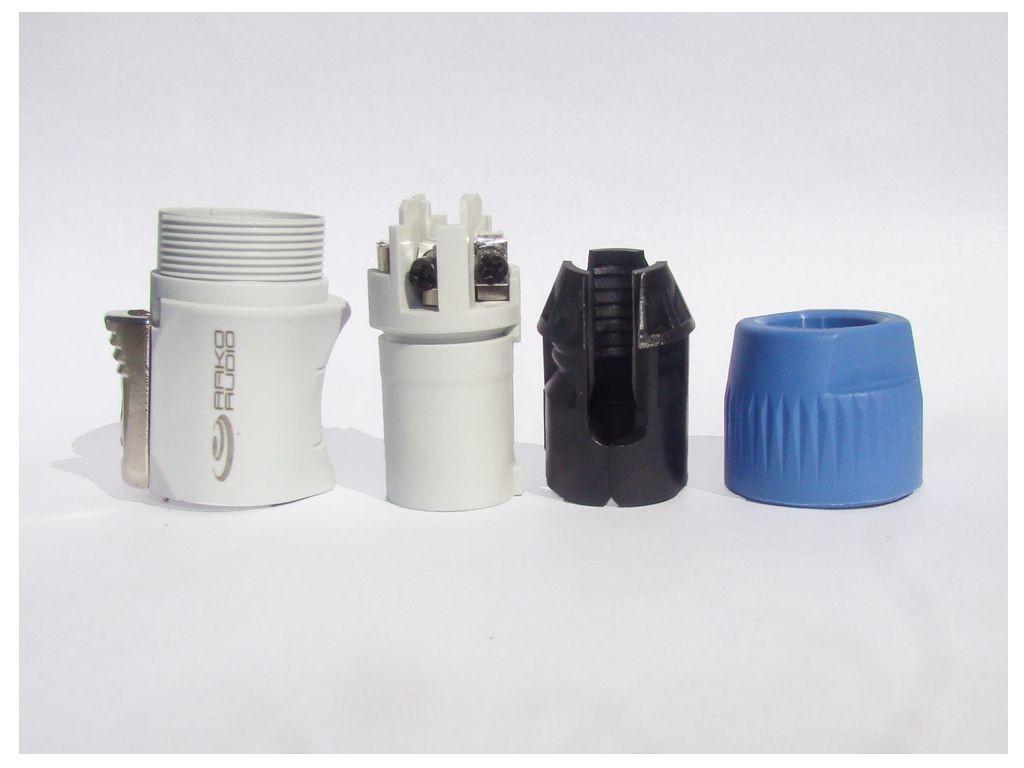 Kit Conector Powercon Branco De Linha Com 10 Unidades - K10PWCBL - Arko Audio