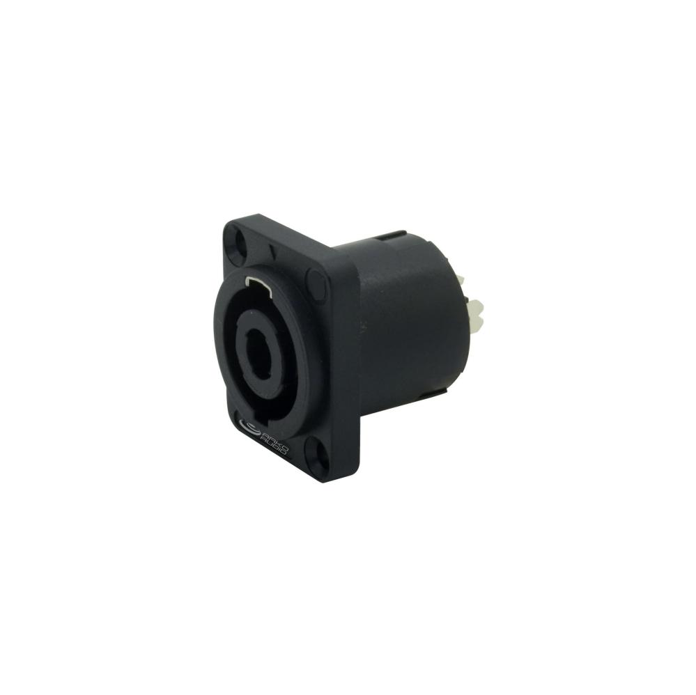 Kit Conector Speakon 4 Polos De Linha e Painel Quadrado - K10-SPK4LPQ - Arko Audio