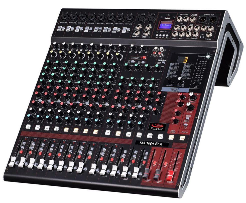 Mesa De Som 16 Canais Com Multiefeitos Conexão Bluetooth E USB - MA1604 Efx - Arko Audio