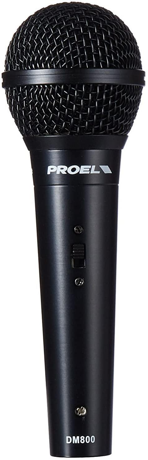 Microfone De Voz Com Chave Padrão Dinâmico Cardioide - Dm800 - Proel