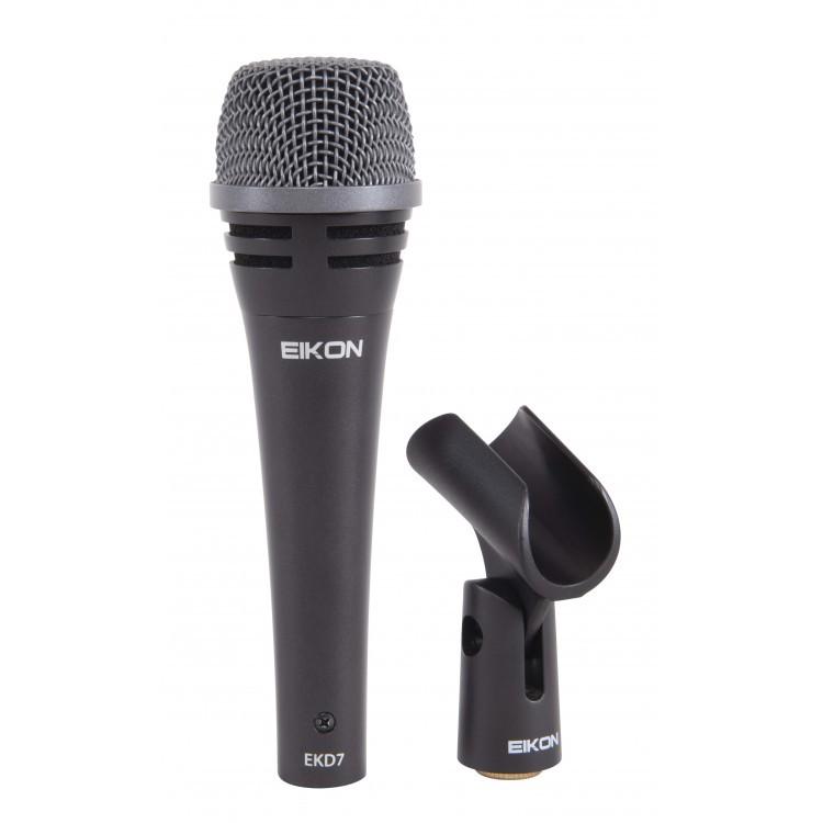 Microfone De Voz Dinâmico Cardioide Ideal para Estúdio - Ekd7 - Eikon