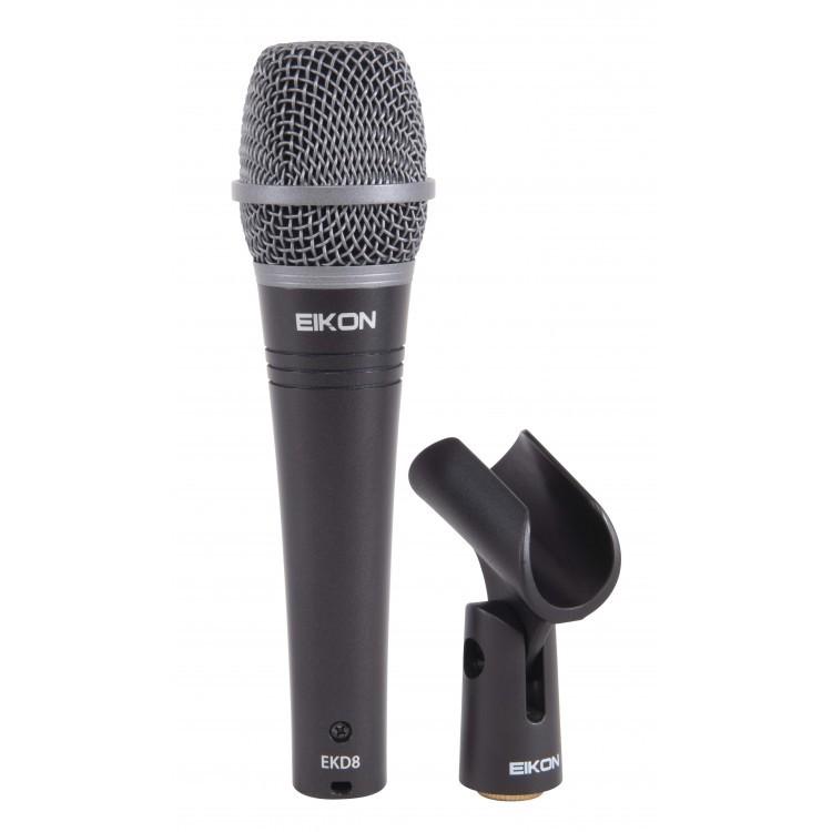 Microfone De Voz Dinâmico Supercardioide Ideal para Estúdio - Ekd8 - Eikon