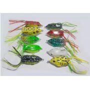 10 Iscas Artificial - Frog Sapinho Anti Enrosco + Estojo