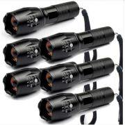 6 Lanternas Tática Militar CREE Led  1000 T6-G2 Recarregável Police c/ zoom