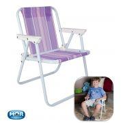 Cadeira Mor Alta em Aço Infantil
