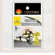 GIRADOR TRIPLO BLACK TECHNES - CARTELA C/ 05 UND