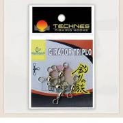 GIRADOR TRIPLO NICKEL TECHNES - C/ 05 UNID