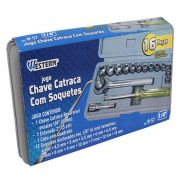 JOGO DE CHAVE CATRACA WESTERN - 16 PC