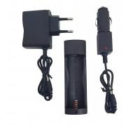 Kit  Carregador + Bateria 26650 Lanterna X900/T9