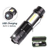Lanterna de Led - Recarregável  USB