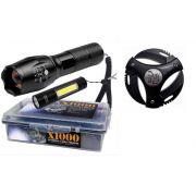 Lanterna Potente Tatica Recarregável X1000+ Lanterna USB + Canivete