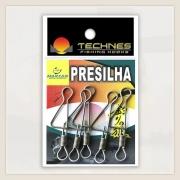 PRESILHA REFORCADA TECHNES - C/ 05 UNID