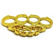 Soco Inglês Dourado Decorado Com Algemas E Armas