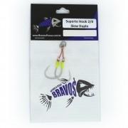 Suporte Hook 2/0 Slow Duplo - Pesca Praia e Mar - Bravos