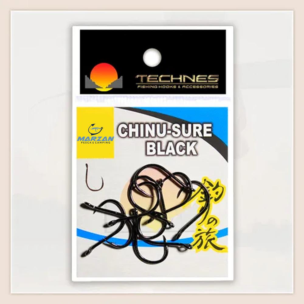 ANZOL CHINU-SURE BLACK TECHNES - C/ 10 UND