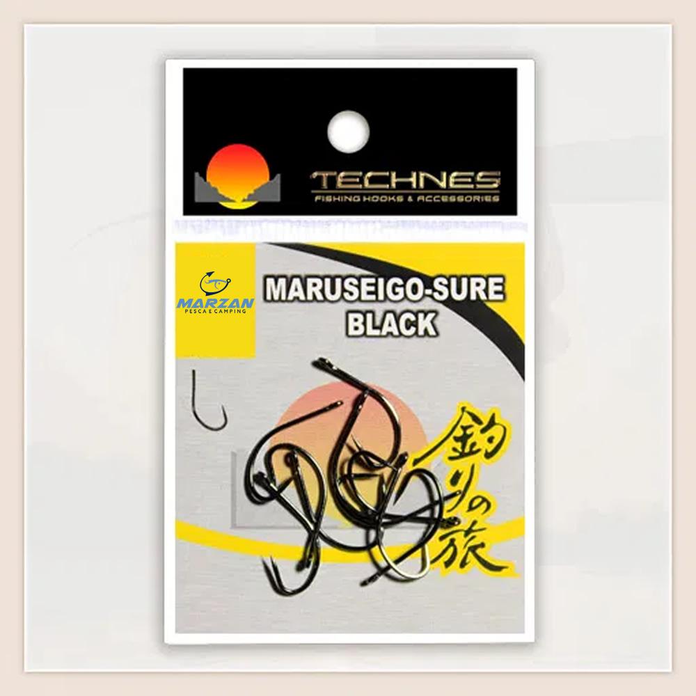 ANZOL MARUSEIGO-SURE BLACK TECHNES - C/ 10 UND