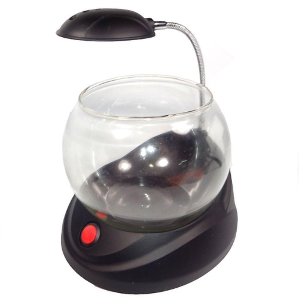 Aquário Beteira Vidro USB Com LED Jeneca TG-02