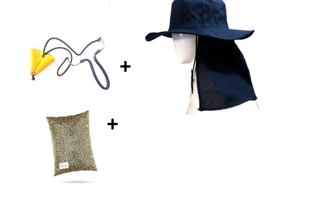 Atiradeira Estilingue + Chapéu + Ceva Guabi 1 Kl