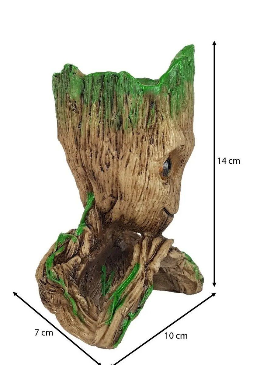 Baby Groot Vaso - Porta Caneta - Resina - Aquario