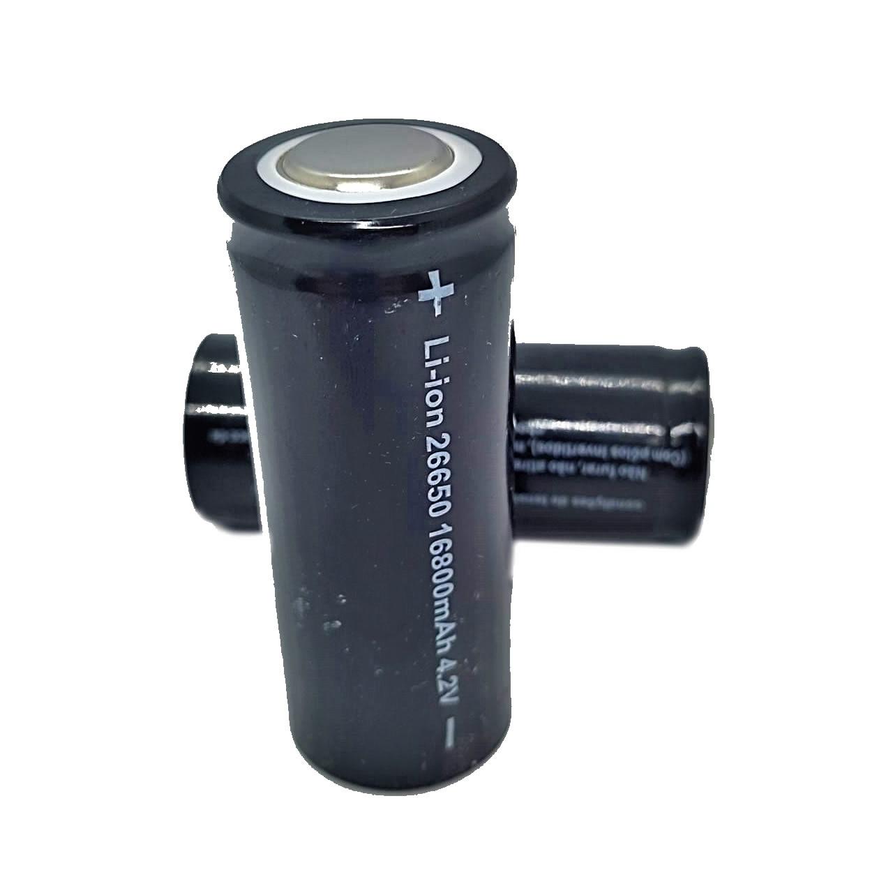Bateria Recarregável Lanterna Tática 26650 16800mah 4.2v Li-ion