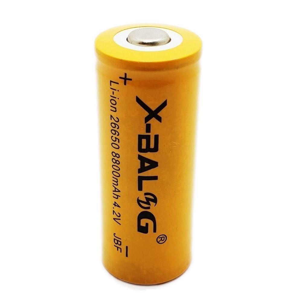 Bateria Recarregável Lanterna Tática 26650 8800mah 4.2v Li-ion