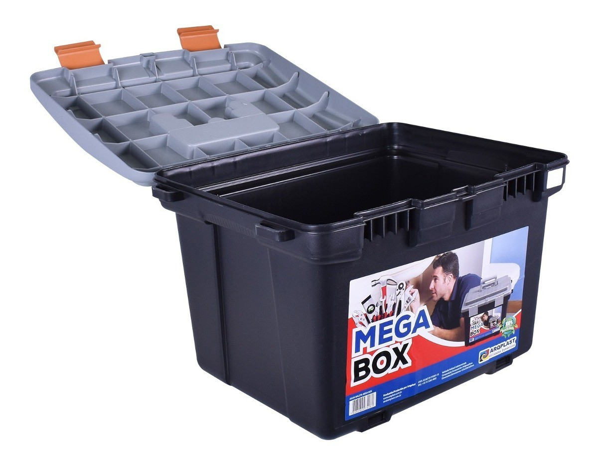Caixa De Ferramentas Grande Mega Box Arqplast
