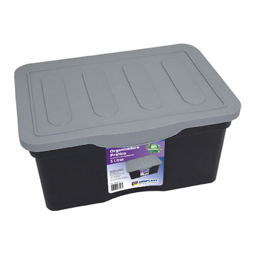 Caixa Organizadora Prática 5 Litros Arqplast Preta